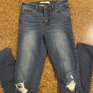 Hollister distresses buttonfly jeans